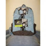 Athletech Girl's Blue Floral Skateboard Backpack