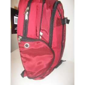 Red and Black Athletech Skateboard Backpack