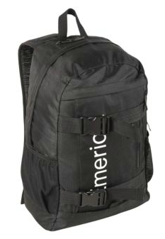 Black emerica shelter skateboard backpack