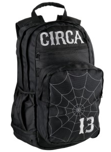 Circa Spider Black Skateboard Backpack
