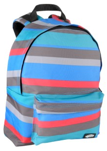 Blue Gray Striped Vans Mohican Skateboard Backpack