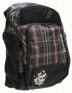 Brown Plaid Chris Haslam Skate Backpack