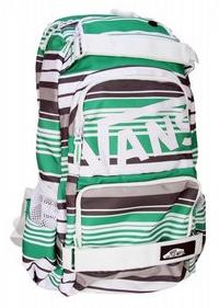 Vans Treflip Backpack Black and Green Plaid
