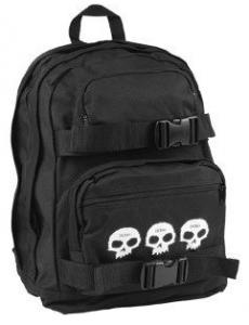 Black Zero 3 Skull Skateboard Backpack