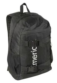 Black emerica shelter skateboard backpack